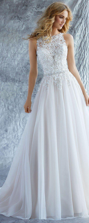 Katie high neck morilee wedding dress vest de noiva