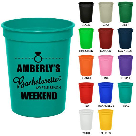 Bachelorette Stadium Cups (Clipart 6053) Bachelorette Weekend - Custom Bachelorette Favors - Bachelorette Party Cups