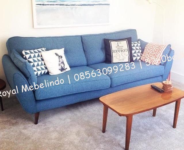 Sofa Minimalis 3 Dudukan Model Vintage Ukuran Standar Ruang Tamu Tinggi