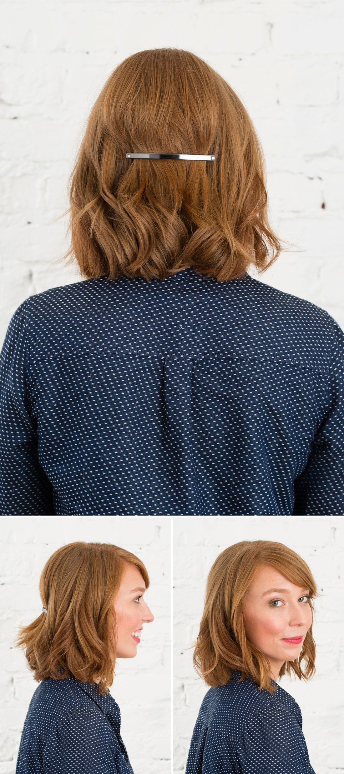 3 Easy 5 Minute Hairstyles Using Emma Stone s Metal Barrette