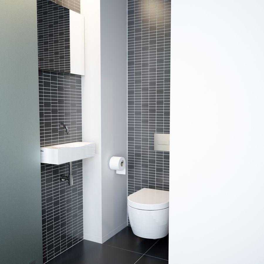 Clou hammock toilet met aluite fontein en chrome kaldur fonteinkraan wc pinterest - Deco toilet zwart ...