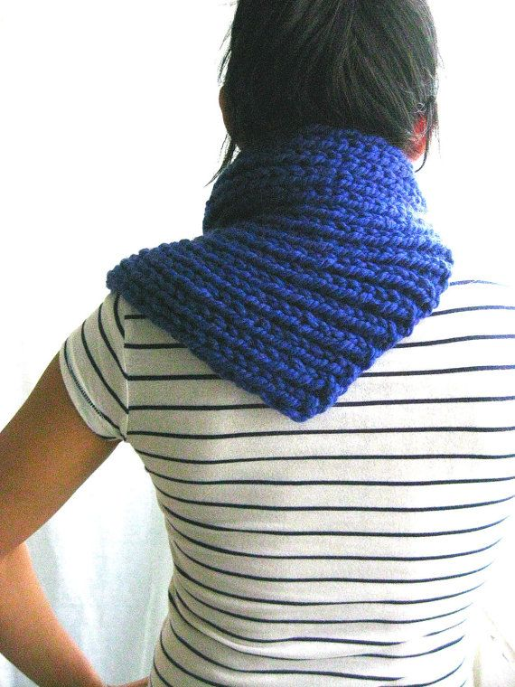 Pattern For Draped Bandana Cowl Hand Knit By Fuzzyclouddesigns