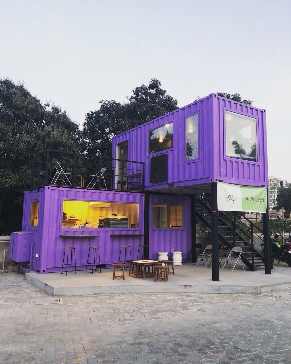 An Imaginative Use For Old Shipping Containers