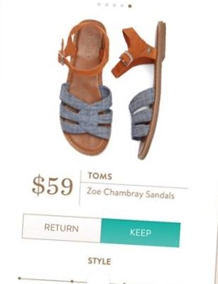f807e42cb5e8 TOMS Zoe Chambray Ankle Strap Sandals from Stitch Fix. https   www.