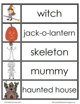Fall Word Wall Words {FREE} | Fall words, Halloween words ...
