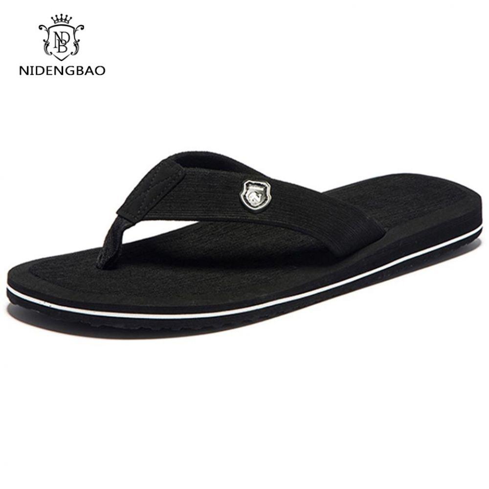 Summer Men Flip Flops Beach Sandals Non-Slide Male Slippers Casual Shoes