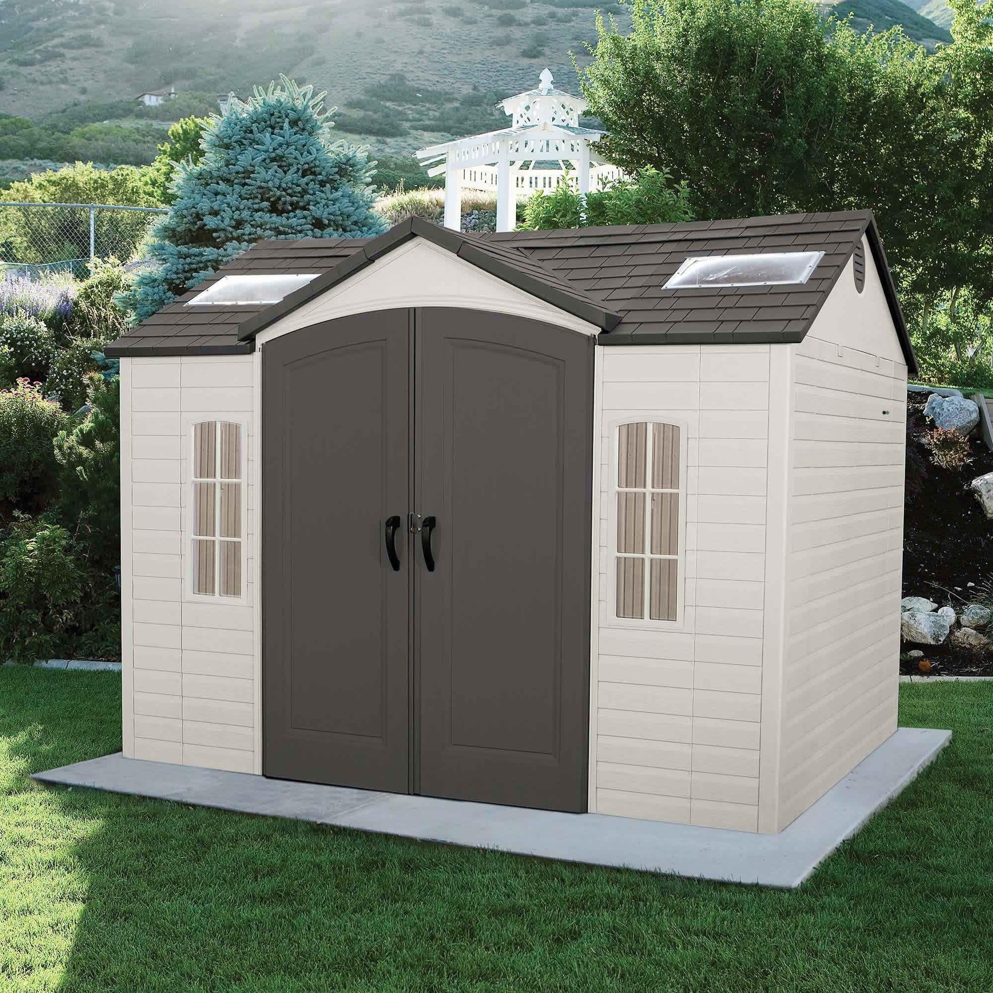 Lifetime 10x8 Ft Garden Storage Shed Kit W Floor 60005 Garden Storage Shed Outdoor Sheds Building A Shed
