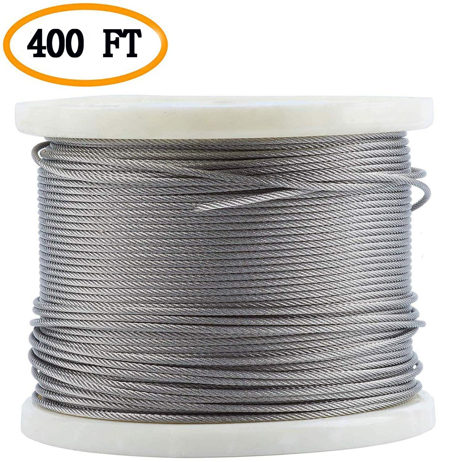 Bysn 316 1 8 Stainless Steel Cable Aircraft Wire Rope For Cable Railing Kit 7x7 400feet Lear Deck Railings Deck Railing Diy