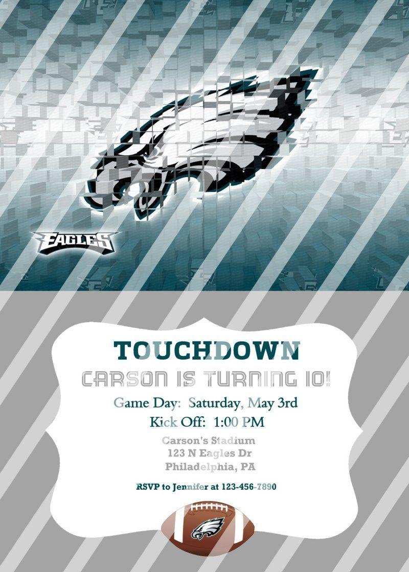 Philadelphia Eagles Personalized Party Invitation #12 (digital file ...