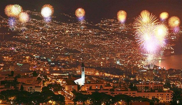 Fireworks Mark The New Year In Madeira Portugal New Years Eve Fireworks New Year Fireworks Fireworks