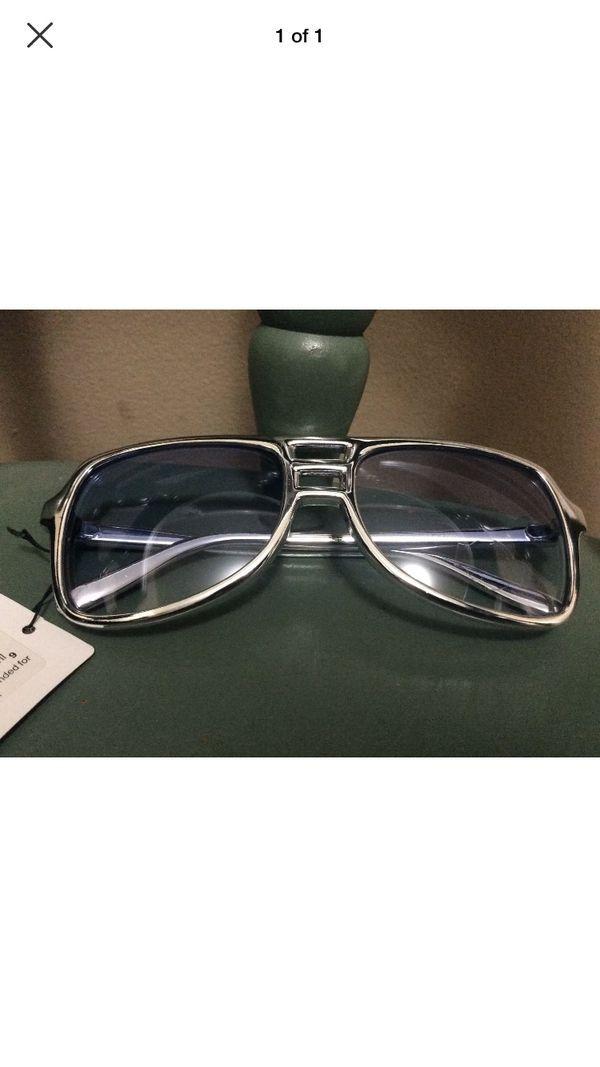 Aviator Silver Blue VICE Sunglasses sonny undercover agent costume retro 80s