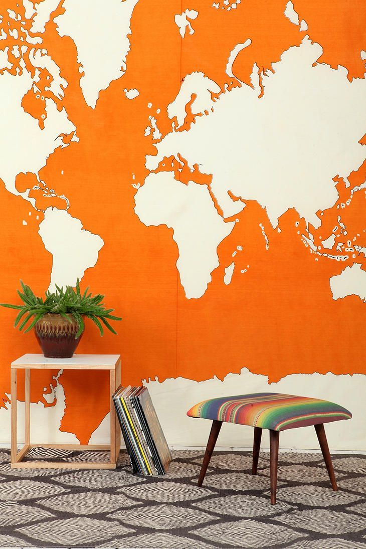 The world on your wall tapestry