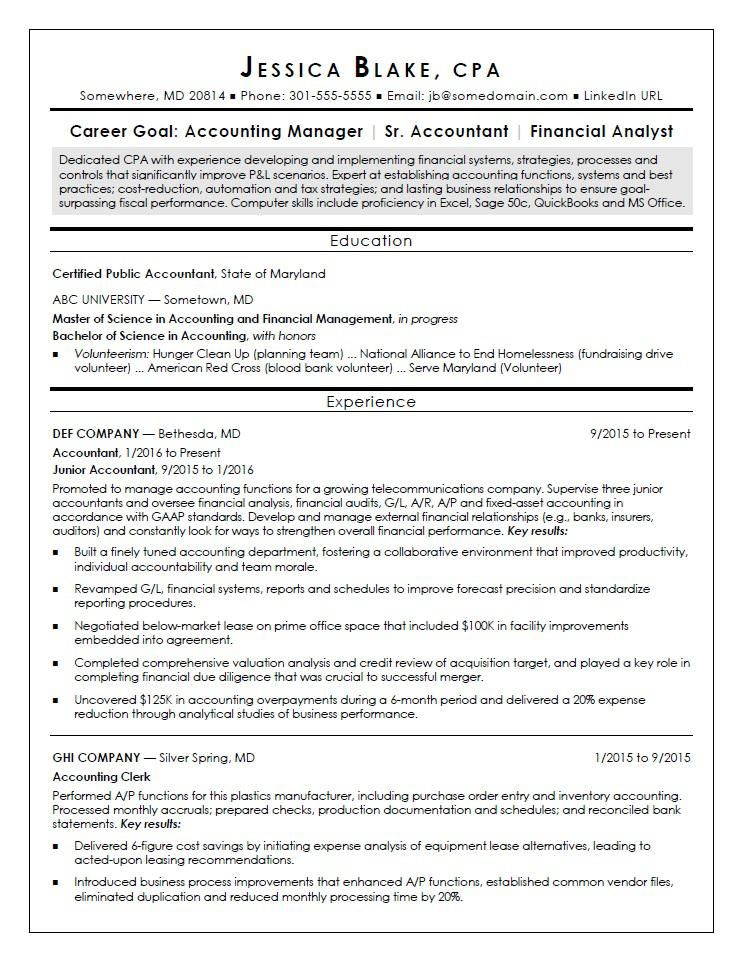 Break into finance as a new certified public accountant