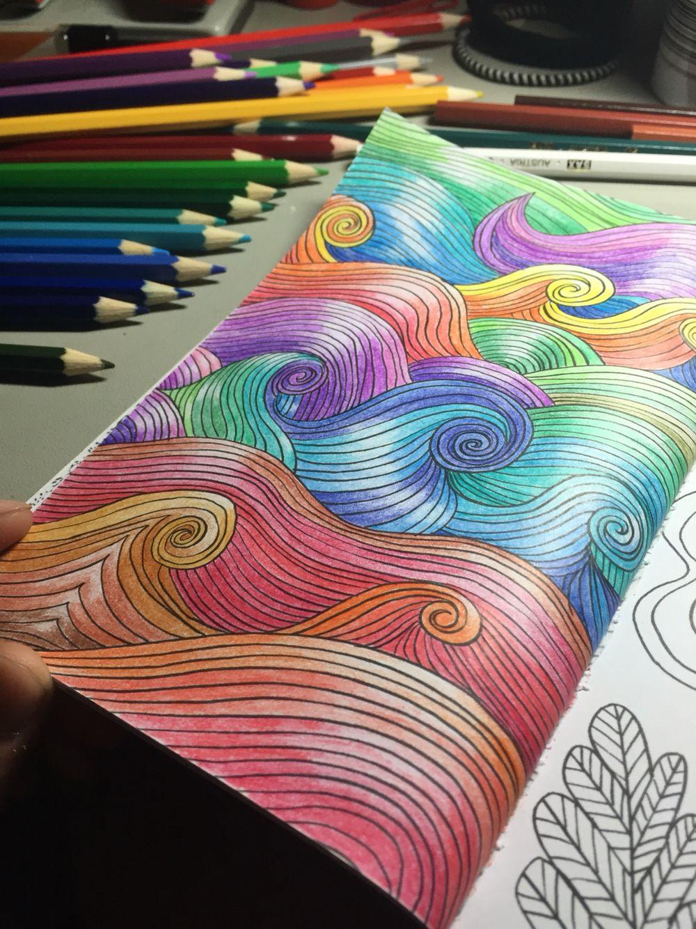 A Page From A Mindfulness Coloring Book By Emma Farrarons Color By Bc Livro De Colorir Cores Lapis De Cor
