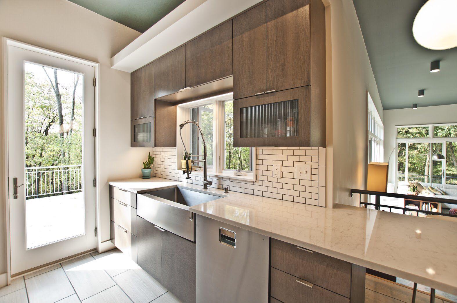 Designed by Terri Sears, Flat slab quarter sawn oak with a ...