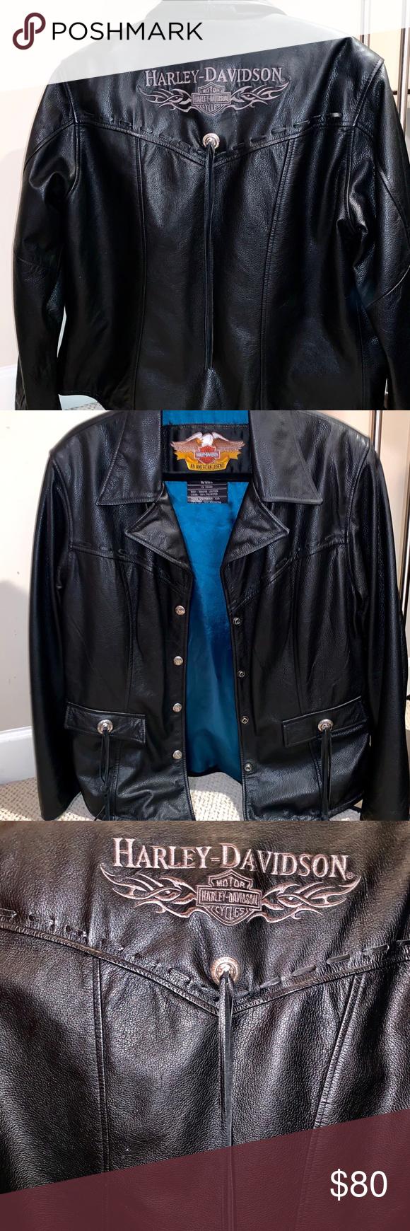 Harley Davidson Leather Jacket Vintage. HarleyDavidson