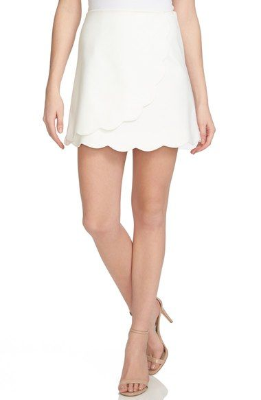Free shipping and returns on 1.STATE Scallop Hem Wrap Front Miniskirt at Nordstrom.com. Pretty scalloped edges add ultra-feminine whimsy to a leg-flaunting skirt cut in a flattering A-line silhouette. Wrap-front detailing finishes this versatile warm-weather look with distinctive dimension.