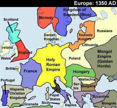 Europe Darkest Days 1240  1350  Maps  Ancient and Modern
