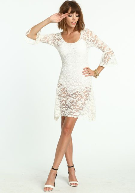 Sheer Lace Dress - Love Culture