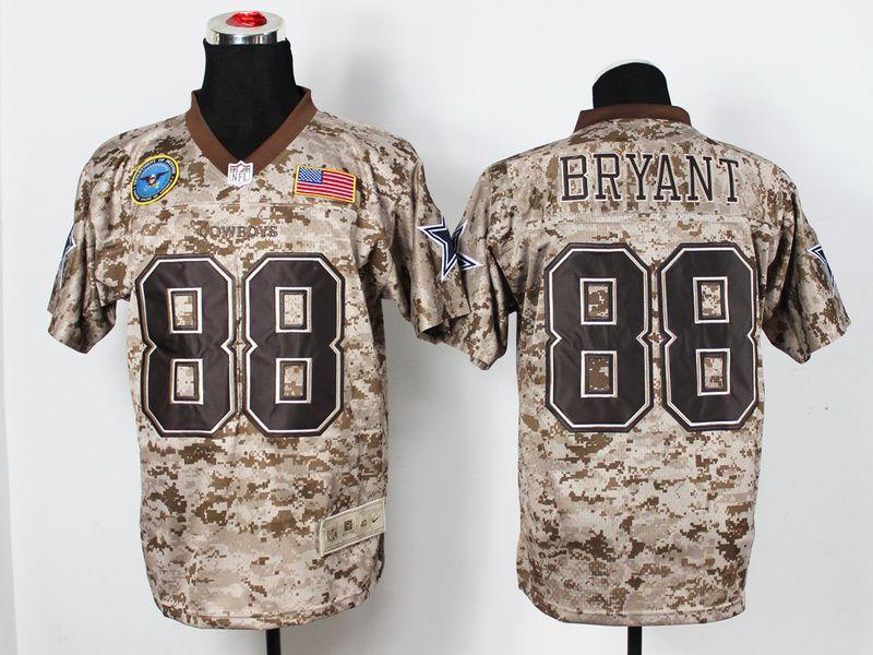 nike dallas cowboys 88 dez bryant salute to service digital camo elite nfl jersey