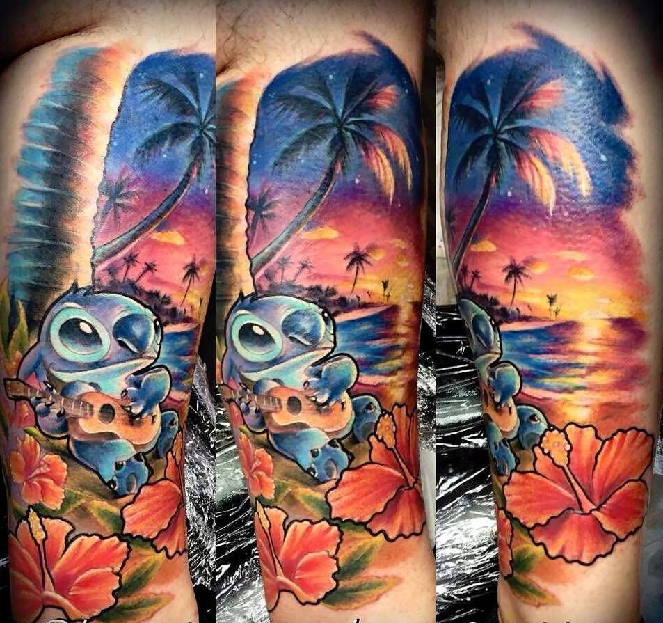 Disney Lilo And Stitch Tattoo By Krzysztof D Limited Availability