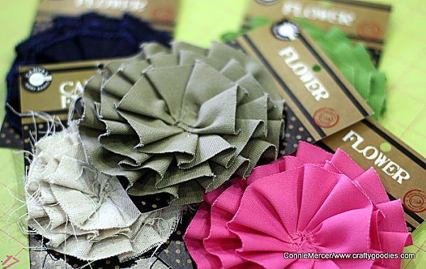 ScrapStreet: Canvas Corp makes great flower pins!