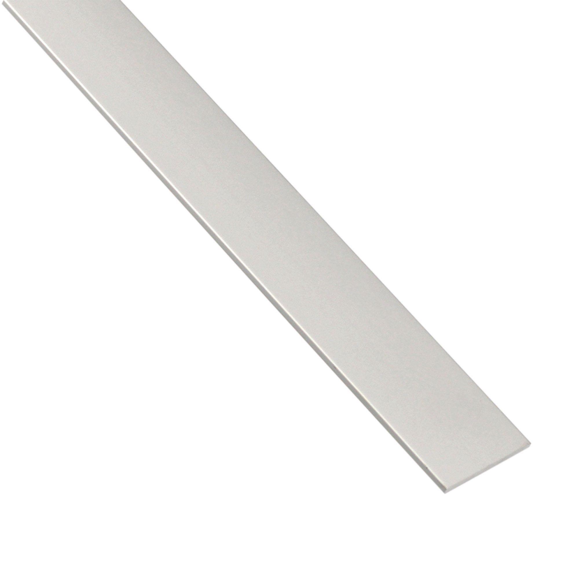 Plat Aluminium Anodisé Argent L1 M X L4 Cm X H03 Cm