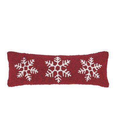 Snowflake Wool-Blend Throw Pillow #zulily #zulilyfinds