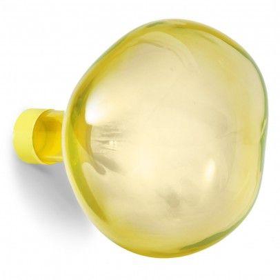 Patère en verre Bubble grande - Jaune  Petite friture