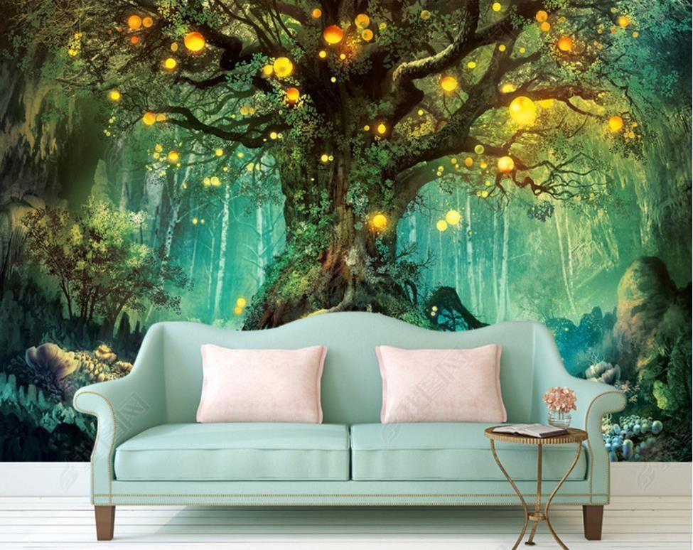 Us 13 26 49 Off Beautiful Dream 3d Photo Wallpapers Forest 3d Wallpaper Murals Home Improve