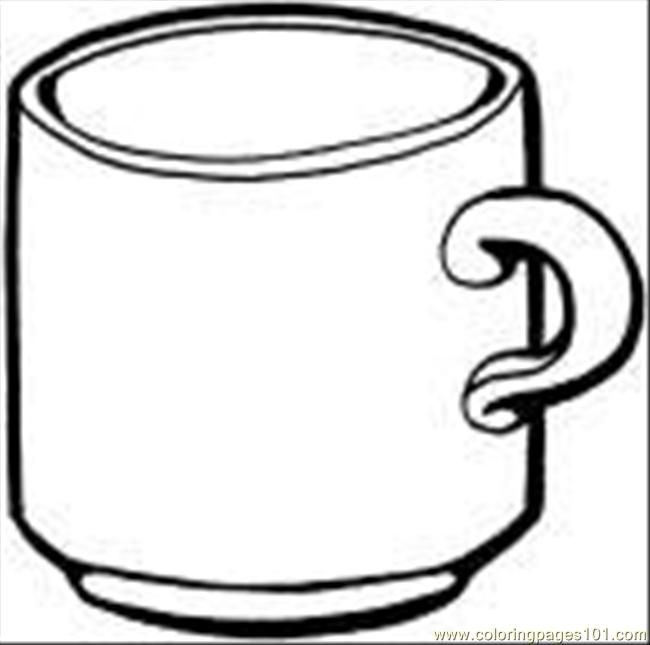Coloring Pages Cups Coloring Pages Tea Cup Coloring Page Food