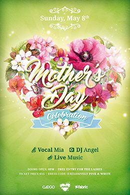 MotherS Day Celebration Free Psd Flyer  Free Flyer Templates