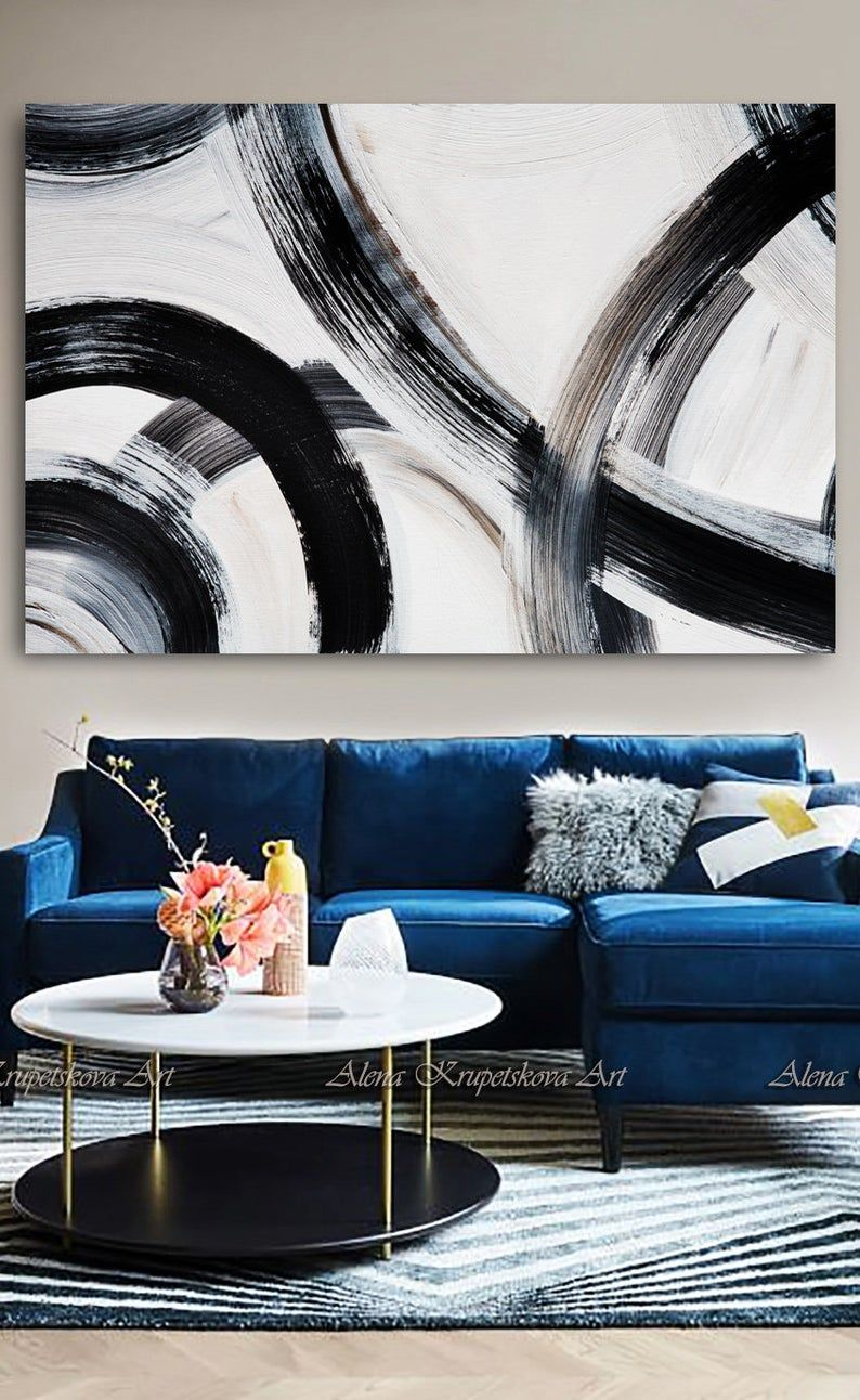 Large Wall Art Black And Neutral Art Oversized Wall Art Etsy In 2020 Oversized Wall Art Black And White Wall Art Etsy Wall Art #oversized #wall #art #for #living #room