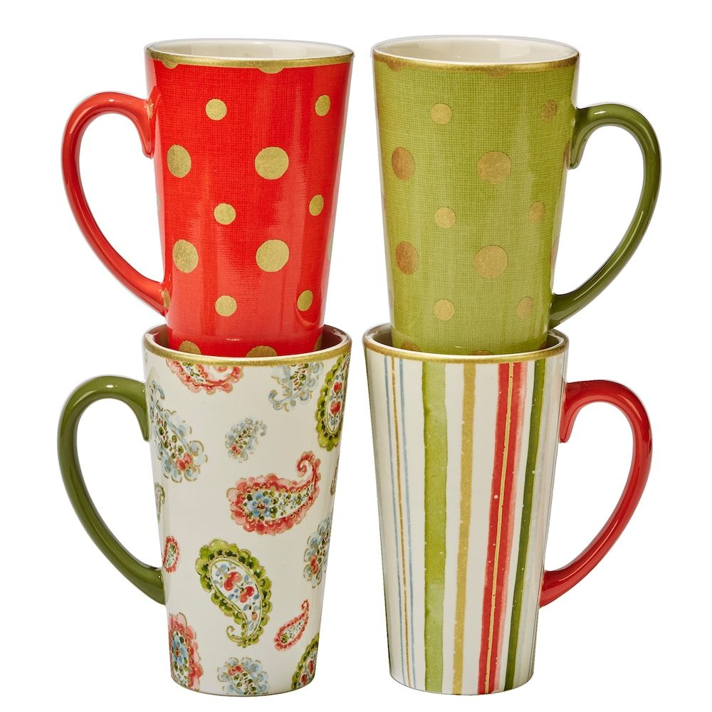 22fe9826710 Certified International Home for the Holidays 4-pc. Mug Set, Multicolor