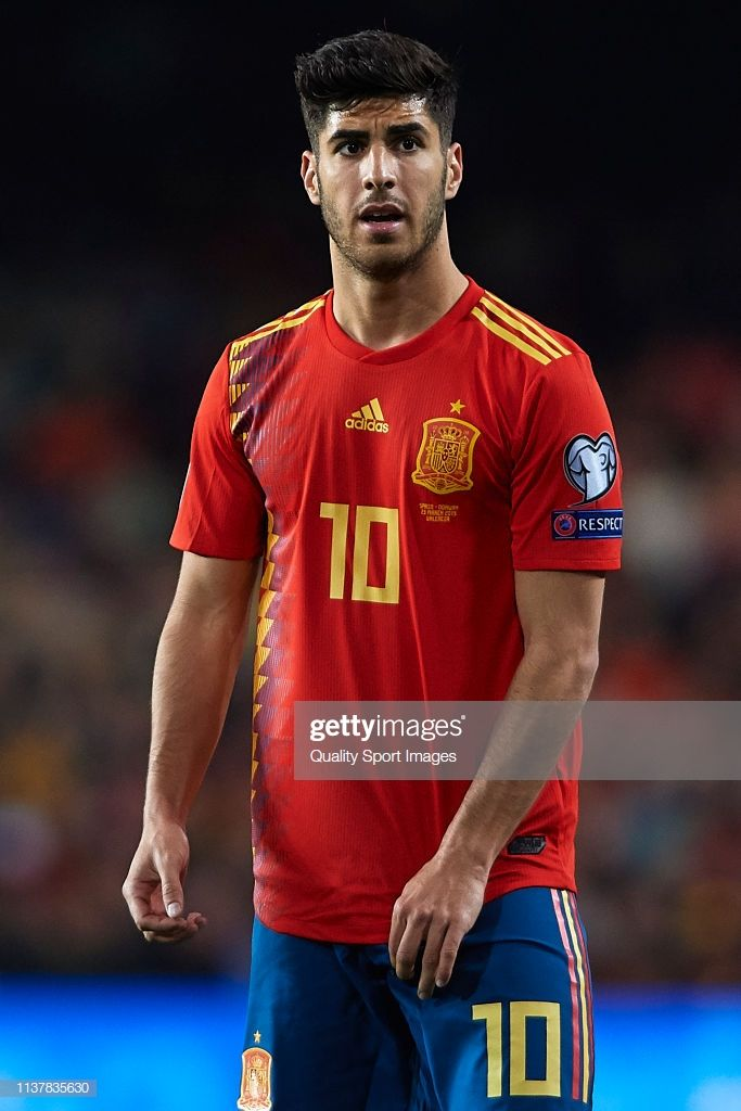 Marco Asensio of Spain looks on during the 2020 UEFA ...