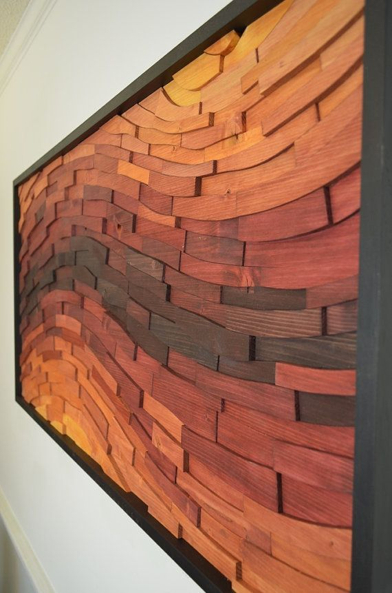 wooden wall art -