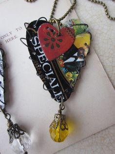 tin heart necklace cloth paper scissors - Google Search