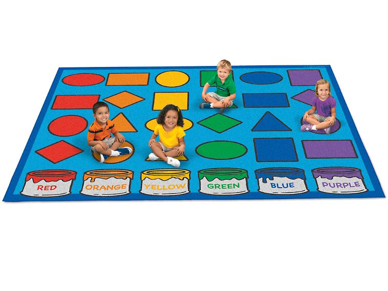 Learning Shapes Amp Colors Activity Carpet 6 X 9