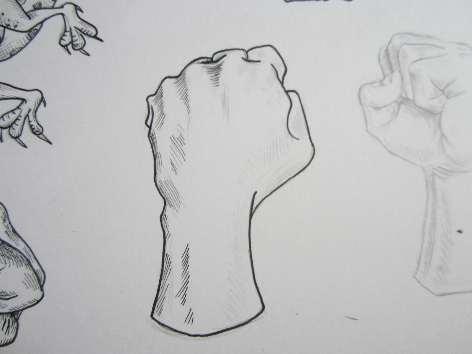 Back of fist drawing google search
