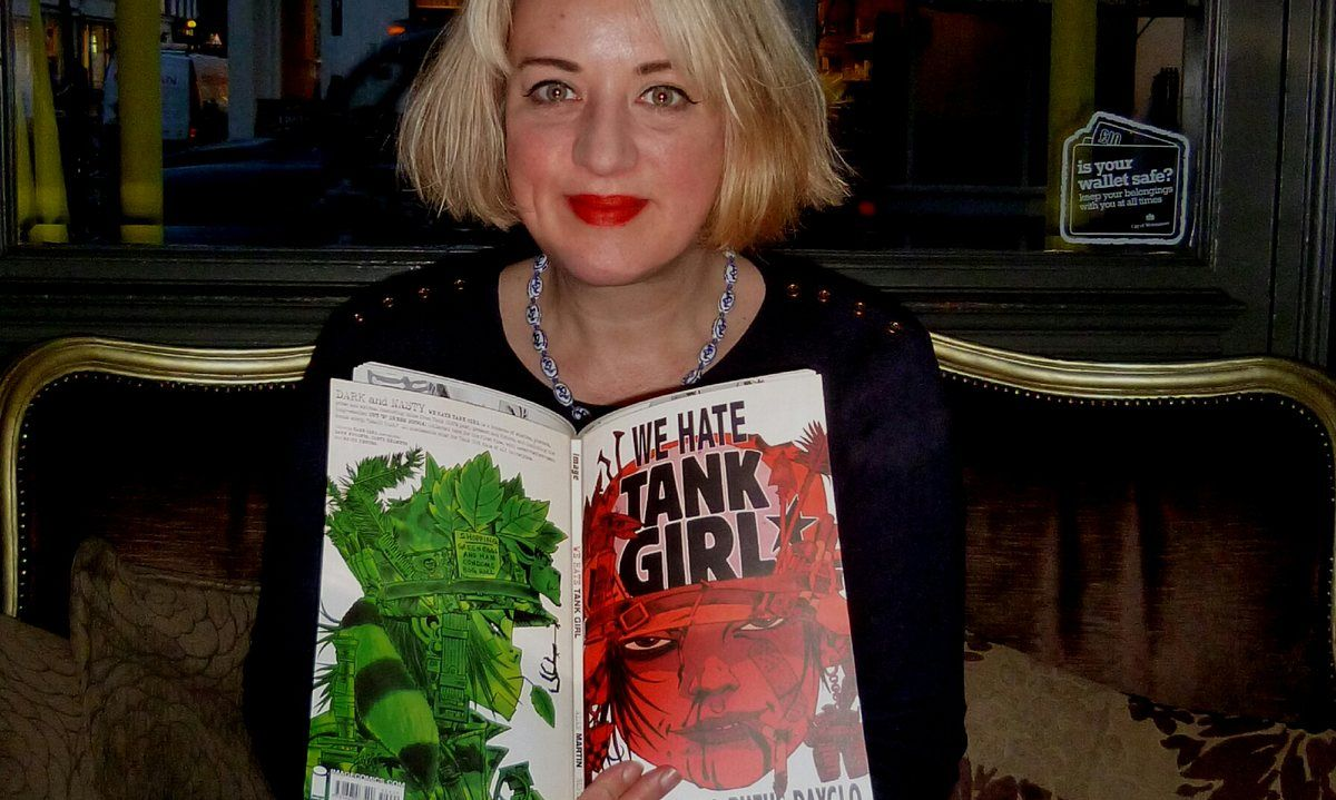 Tank Girl was hilarious, drove a tank, farted, picked her nose and swore like a sailor with a stubbed toe – and she was a feminist landmark in comic book history. Tatum Flynn explains how this original punk rebel inspired her anarchic, irreverant children's books set in Hell