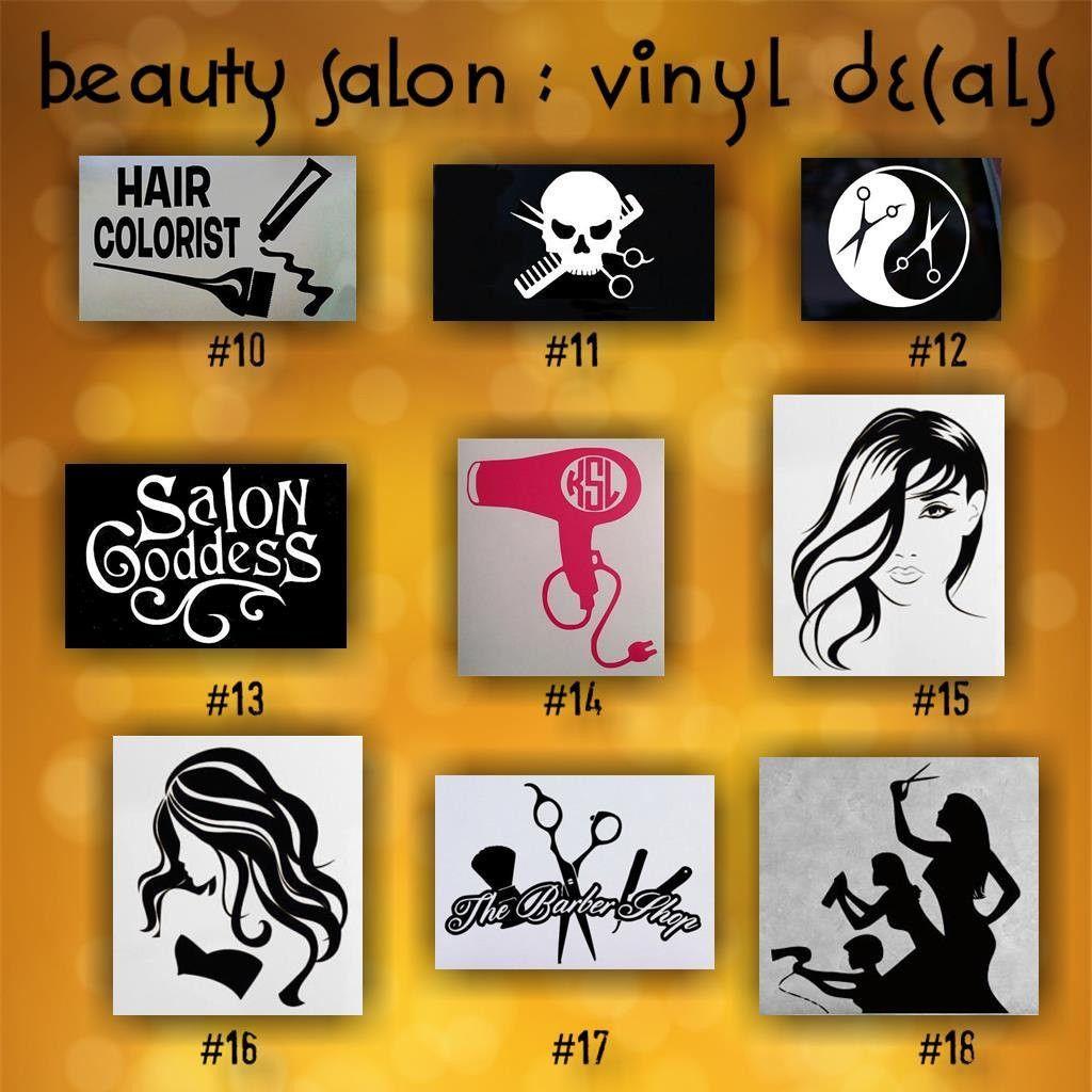 Beauty salon vinyl decals 10 18 custom stickers car window decals vinyl sticker hairdresser hair stylist beauty shop