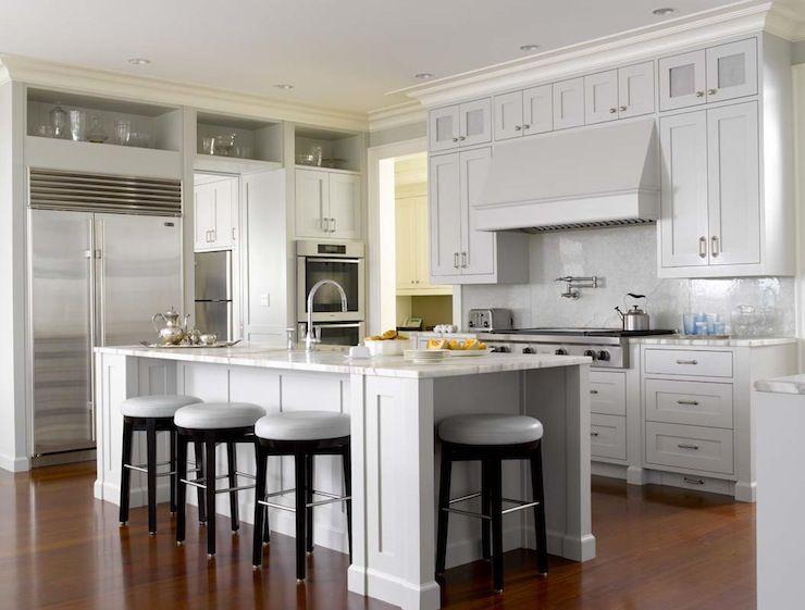 Alex Hayden Kitchens Glossy Black Counter Stools