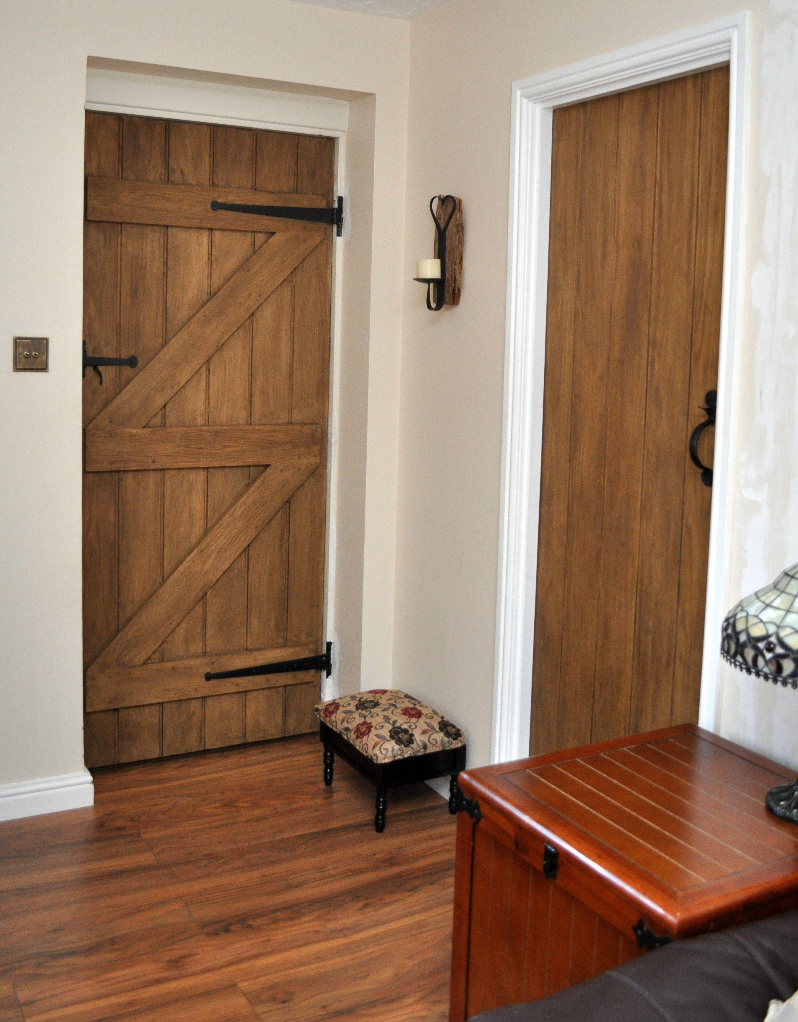 Solid Oak Ledge and Brace Doors