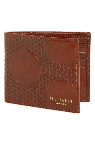 0ddea87ca9c Men's Ted Baker London Embossed Leather Bifold Wallet - Beige ...