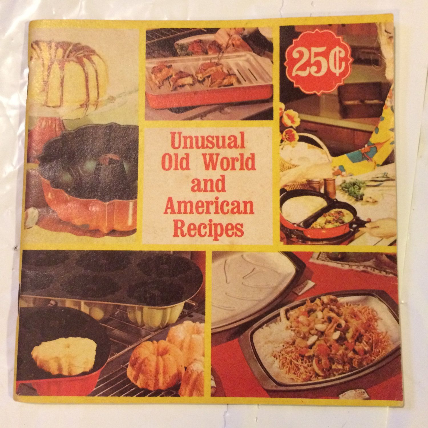 Recipe Cookbook Old World And American Recipes Jello Menus Weird