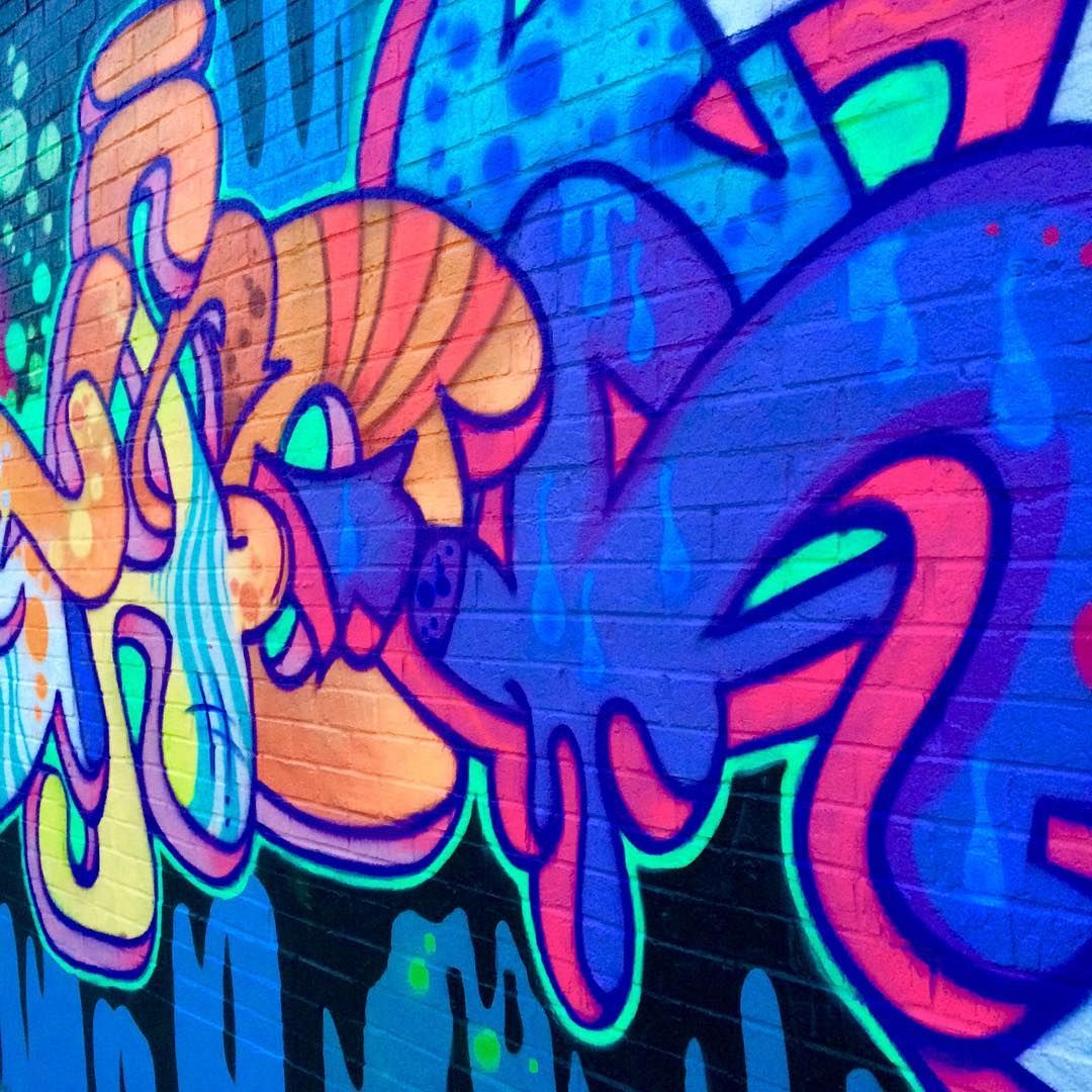 Blue, Orange & Pink Graffiti (With images) Clever kids