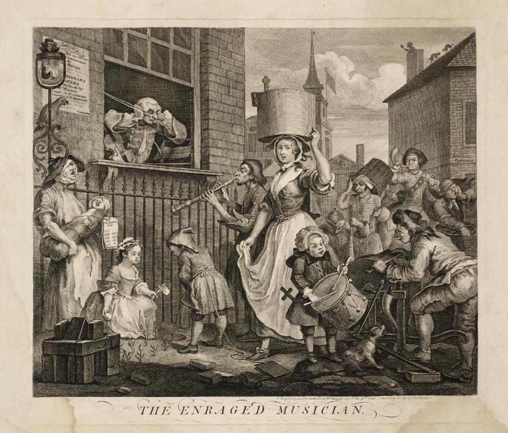 The Enraged Musician William Hogarth 1741 In 2020 William