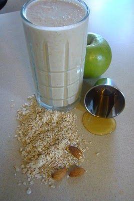 Licuados de avena y manzana para adelgazar