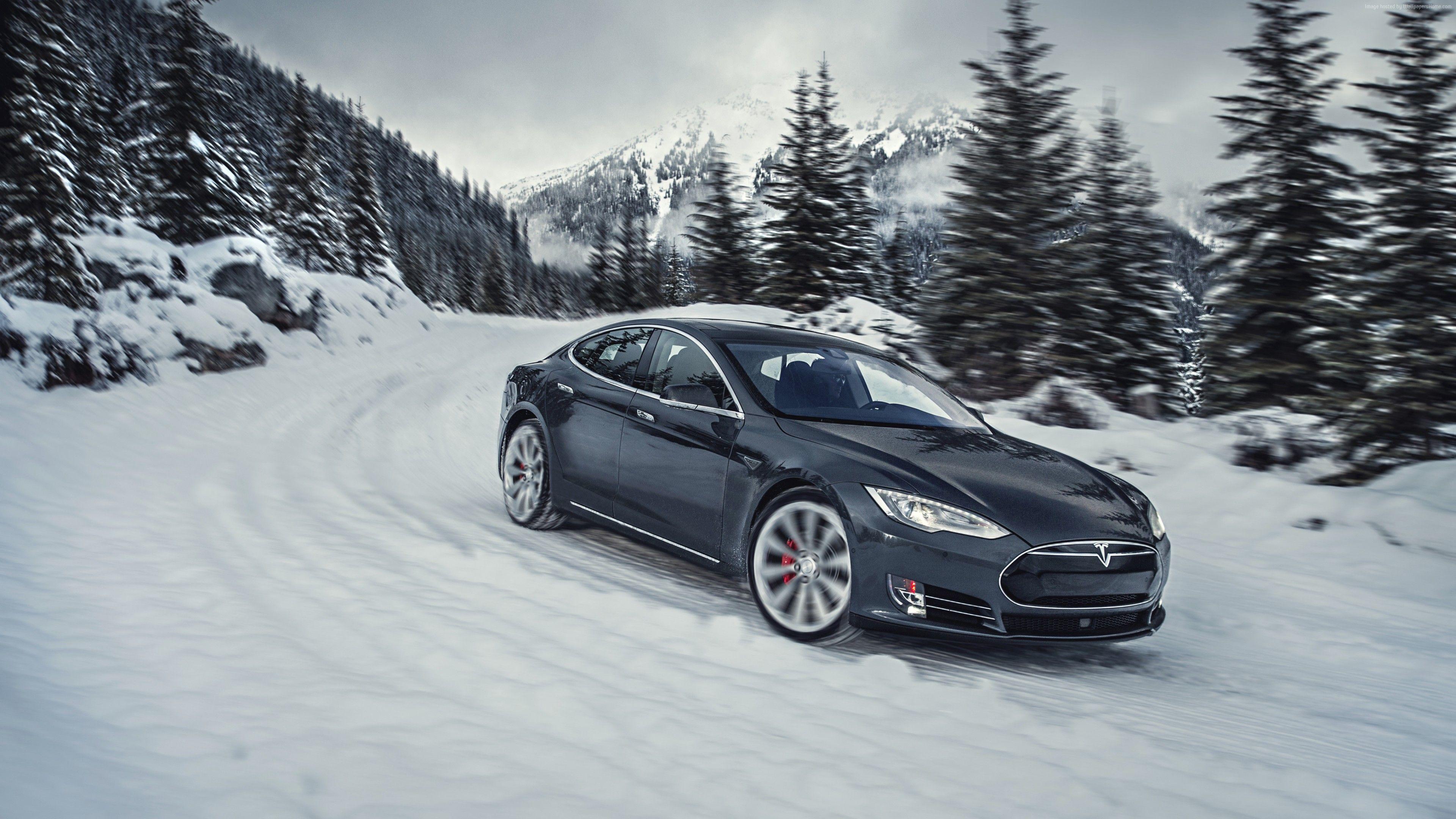 Tesla Model S Black Wallpaper For Iphone