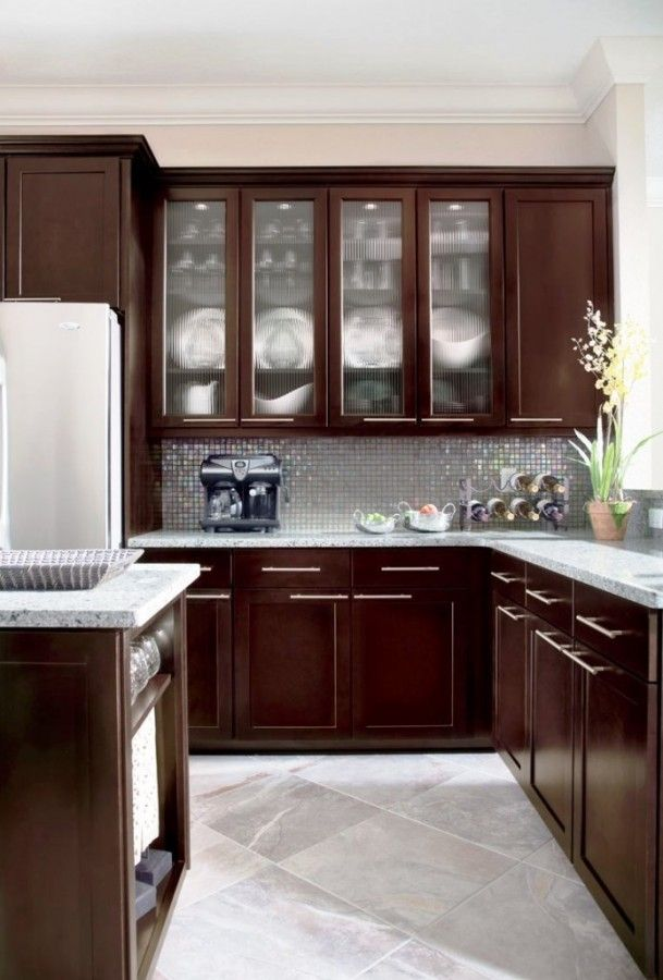 Superb Beautiful Small Kitchen Ideas With Maple Espresso Cabinets . Part 31